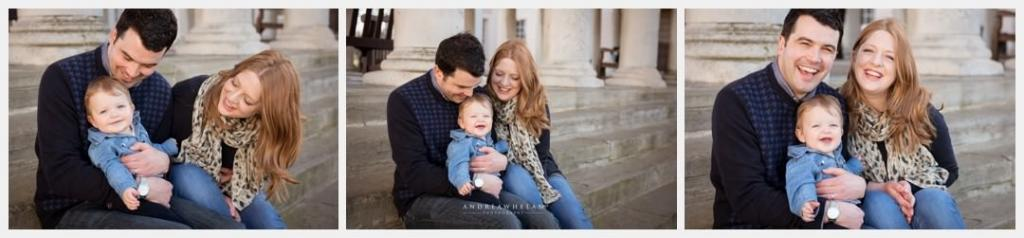 Family and baby photo session London