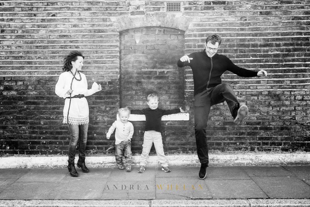 fun greenwich family portrait