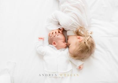 newborn and sibling photo session