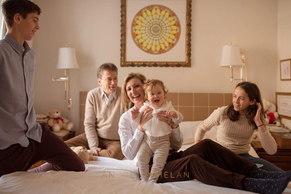relaxed family portrait kensington