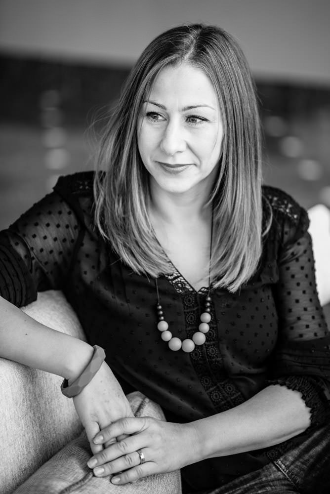 black and white business headshot photographer in London