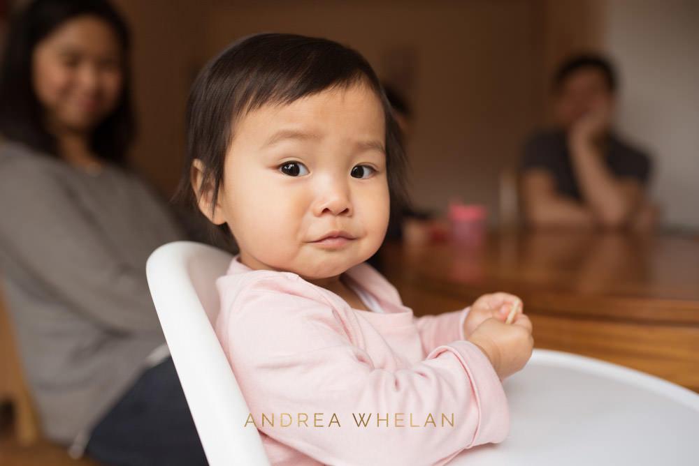 baby girl in highchair