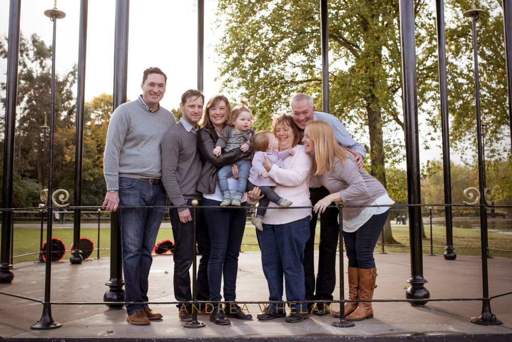 extended family photo session London Regents park