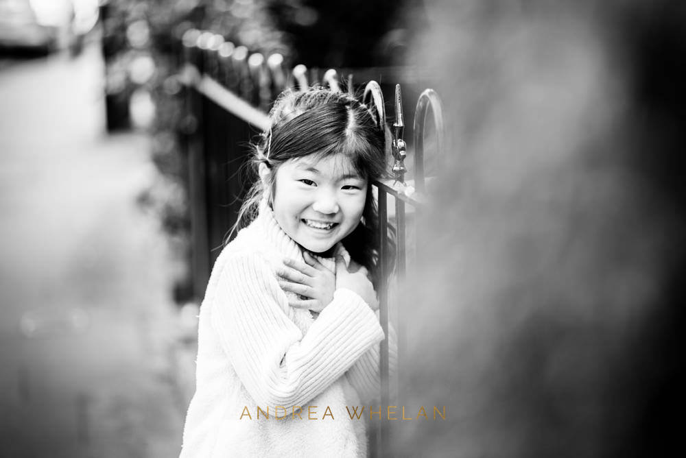 Black and white childrens photographer London