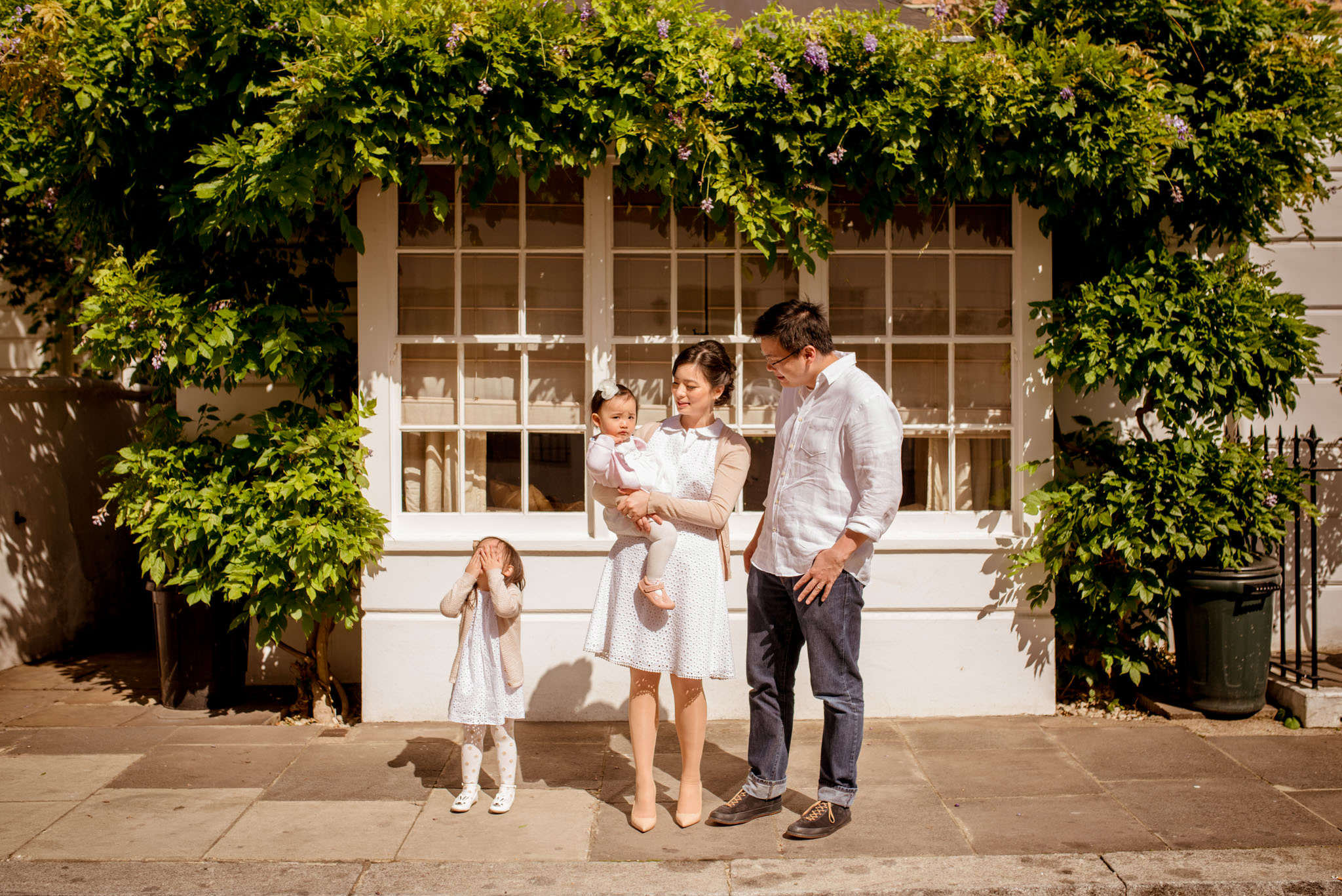 Outdoor family portrait session London