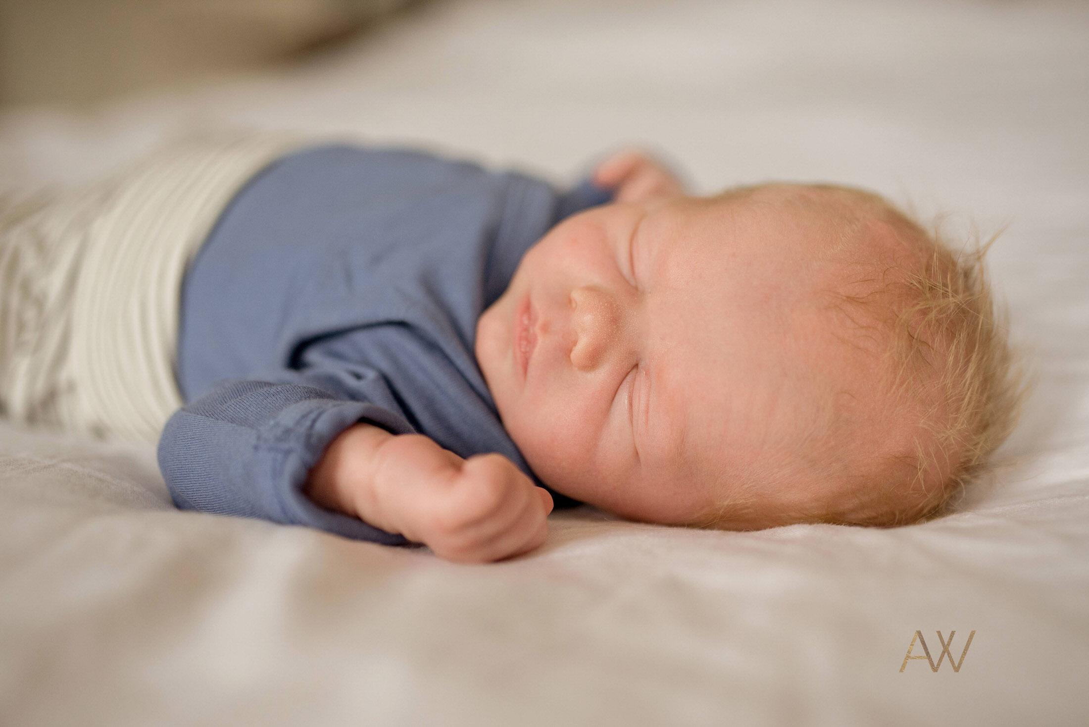 relaxed newborn photographs