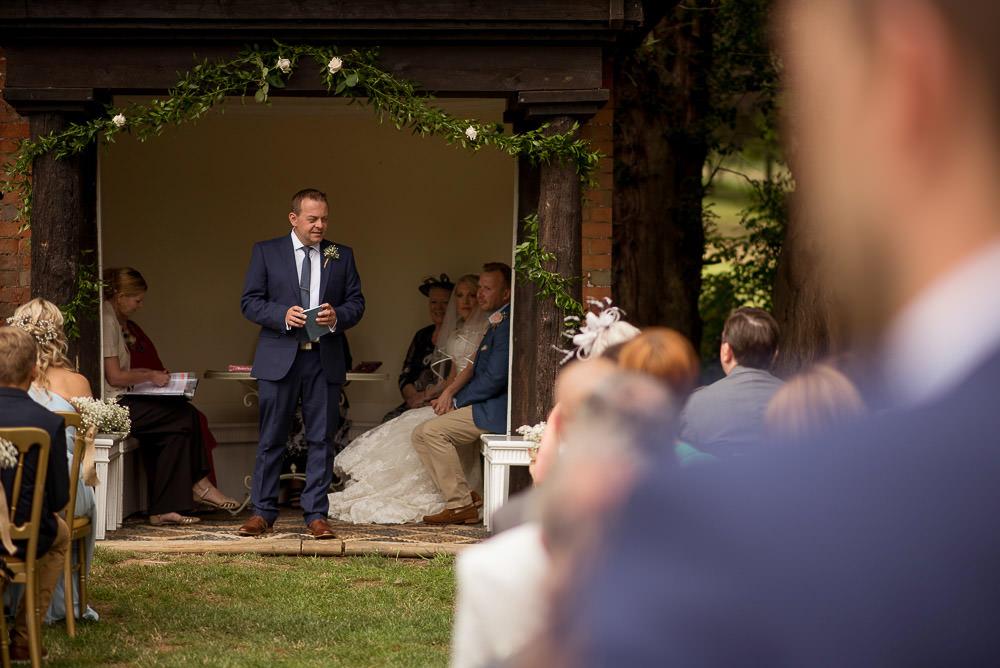 Outdoor UK wedding venue